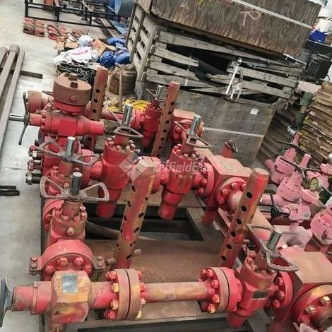 Used Stream Flo HYDRAULIC CHOKE MANIFOLD, SIDE BORE 2 9/16, MAIN BORE 4 1/16 5000 PSI year of 2019 for sale, price ask the owner, at TurkPrinting in Choke Manifolds