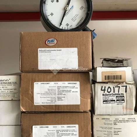 Used ASHCROFT INSTRUMENTS GAUGE, PRESSURE 0-400 PSI, 1/2'' NPT year of 0 for sale, price ask the owner, at TurkPrinting in Low Pressure Gauges