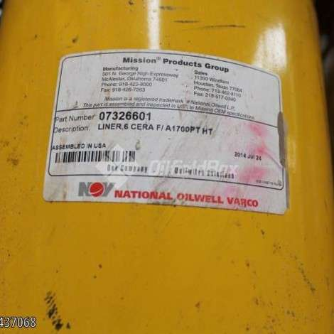 Used National Oilwell Varco (NOV) LINER FOR MUD PUMP, 6'' , 5 1/2'' year of 0 for sale, price ask the owner, at TurkPrinting in Mud Pump Spares